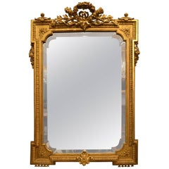 Antique Gold Leaf Bevelled Mirror