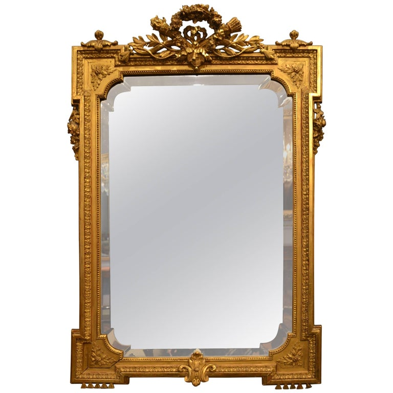 Antique Gold Leaf Bevelled Mirror