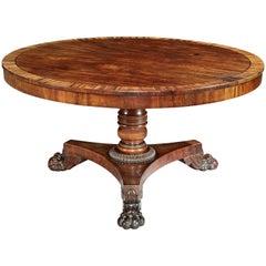 Early 19th Century William IV Mahogany Center Table