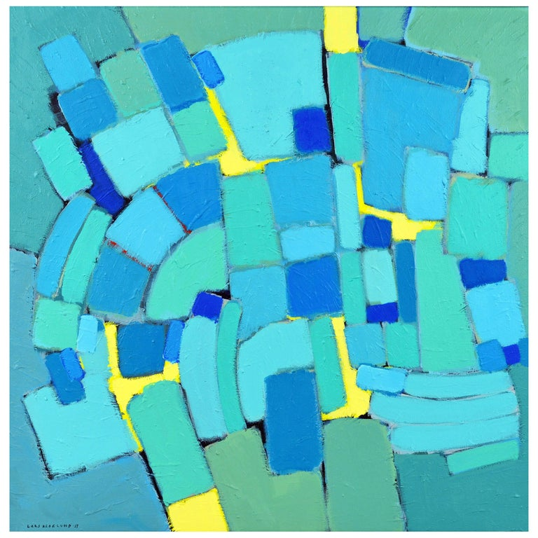'Arrondissement' Contemporary Mid-Century Style Abstract by Lars Hegelund 1