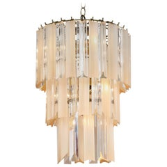 Camer Three-Tier Chandelier with Clear and Gold Rods
