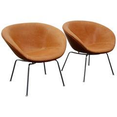 """Arne Jacobsen Pair of """"Pot Chair"""""""
