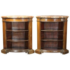 Pair of Open Bookcase Cabinets