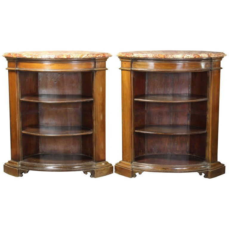 Pair of Open Bookcase Cabinets For Sale