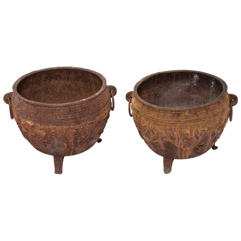 Chinese cast iron lotus basins for sale at stdibs