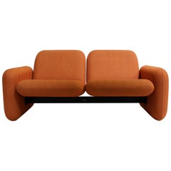 "Rare 1970s Modern Ray Wilkes for Herman Miller ""Chicklet"" Love Seat Sofa"