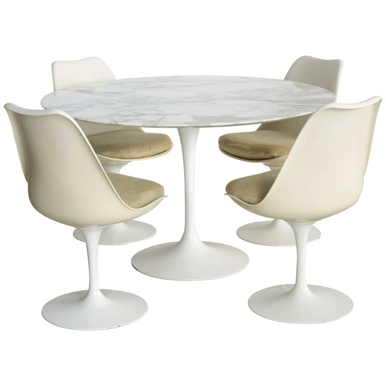 vintage eero saarinen table and chairs set for knoll saarinen dining table and tulip chairs saarinen tulip table and chairs