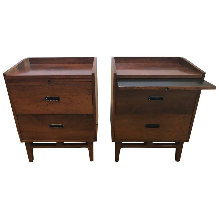 Nanna Ditzel Pair of Rosewood Bedside Tables, Søren Willadsen Møbelfabrik, Denma For Sale