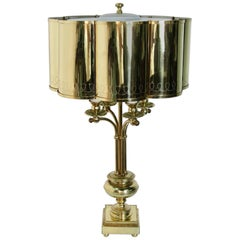 Hollywood Regency Brass Table Lamp in the Manner of Paavo Tynell