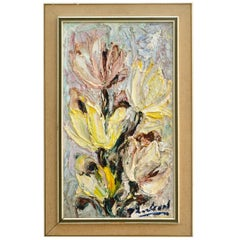 20th Century Expressionistic Still Life Painting of Dutch Tulips, Number One