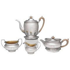 George III Silver Tea and Coffee Set by Robert & Samuel Hennell