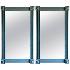Pair of American Pier Mirrors in Blue