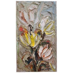 20th Century Dutch Brutalist Still Life Tulip Painting, Number Two