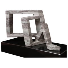 """D Knot #3"" Marble Sculpture by Robin Antar"