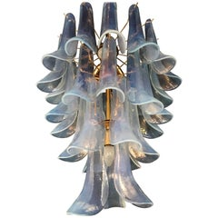 Signed Mid-Century Modern Chandelier by La Murrina in Opalescent Murano Glass