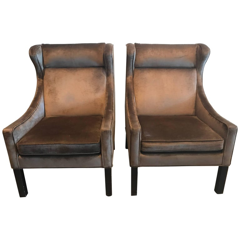 Pair of Børge Mogensen Model 2204 for Frederica Stolefabrik Club Chairs, Denmark