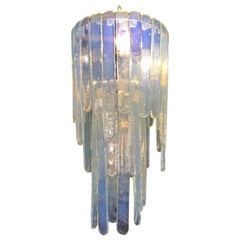"Mcm ""Cascade"" Mazzega Chandelier by Carlo Nason in Opalescent Murano Glass"