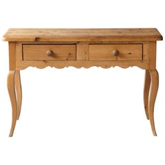 English Country Style Pine Console 2 of 2