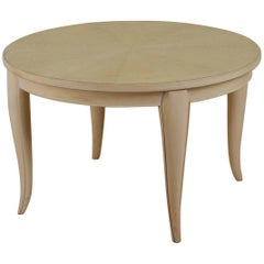 Dominique Low or Side Table in Rayed Sycamore