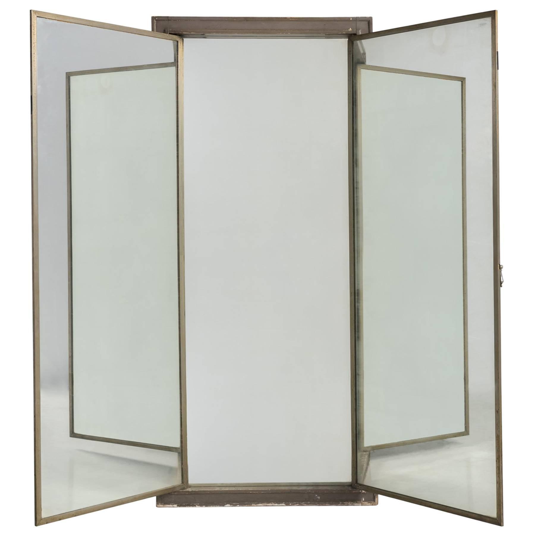 Triptych Brass Dressing Mirror