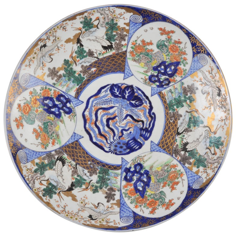 19th Century Oversized Imari Charger For Sale