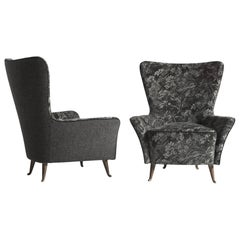 Pair of Reupholstered I.S.A. Parlor Chairs in Liberty London Velvet