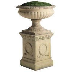 Large Garden Urn with Pedestal