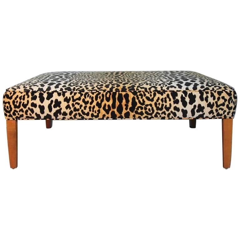 Leopard Print Ottoman Or Coffee Table For