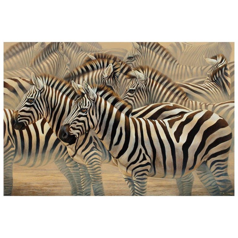 """Unity"" Painting of Zebras by Anna Widmer"