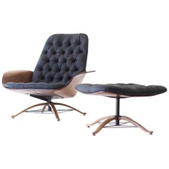 George Mulhauser Lounge Chair and Ottoman for Plycraft