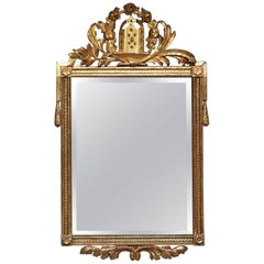 Early Gilt Danish Mirror