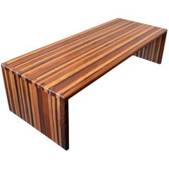 California Craft Studio Laminated Mixed Woods Coffee Table or Bench