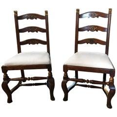 Paar italienische Stühle, 18. Jahrhundert
