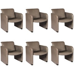 Set of Six COR Leather Armchairs