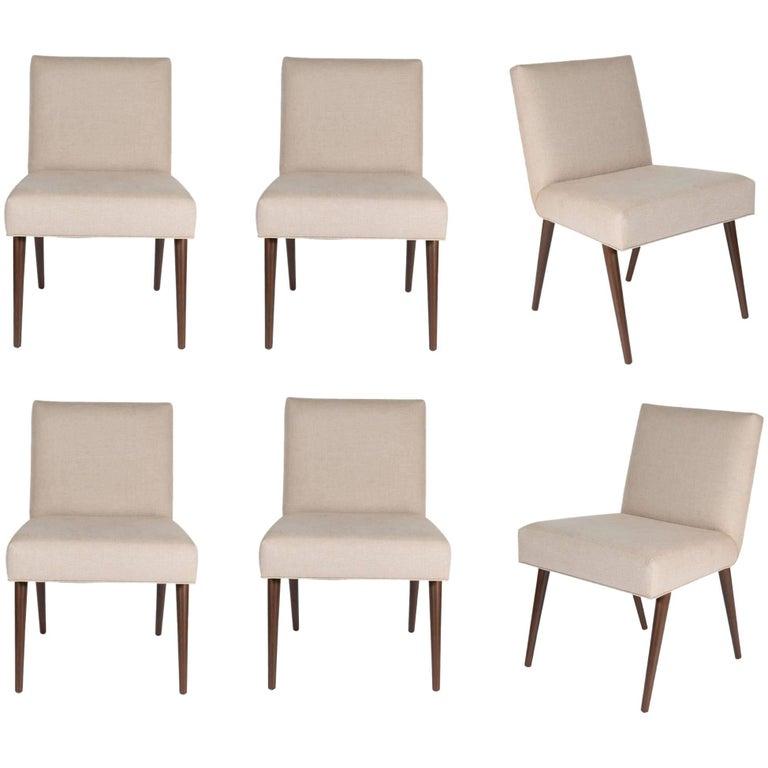 Set of Six Sheppard Dowel Leg Side Dining Chairs