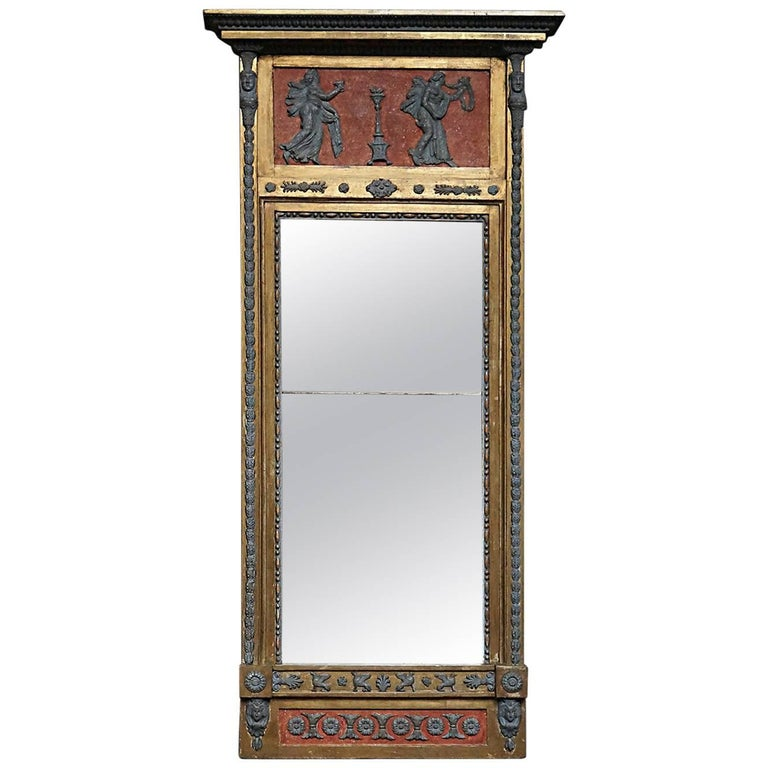 Swedish Neoclassical Pier Mirror For Sale