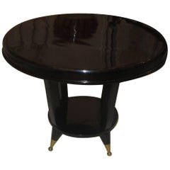 Mid-Century Modern Ebonized Cocktail Table