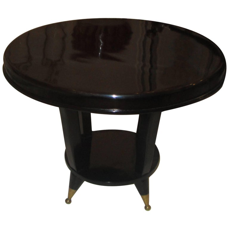 Mid-Century Modern Ebonized Cocktail Table For Sale At 1stdibs