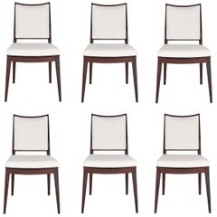Set of Six Frame Back Dining Chairs