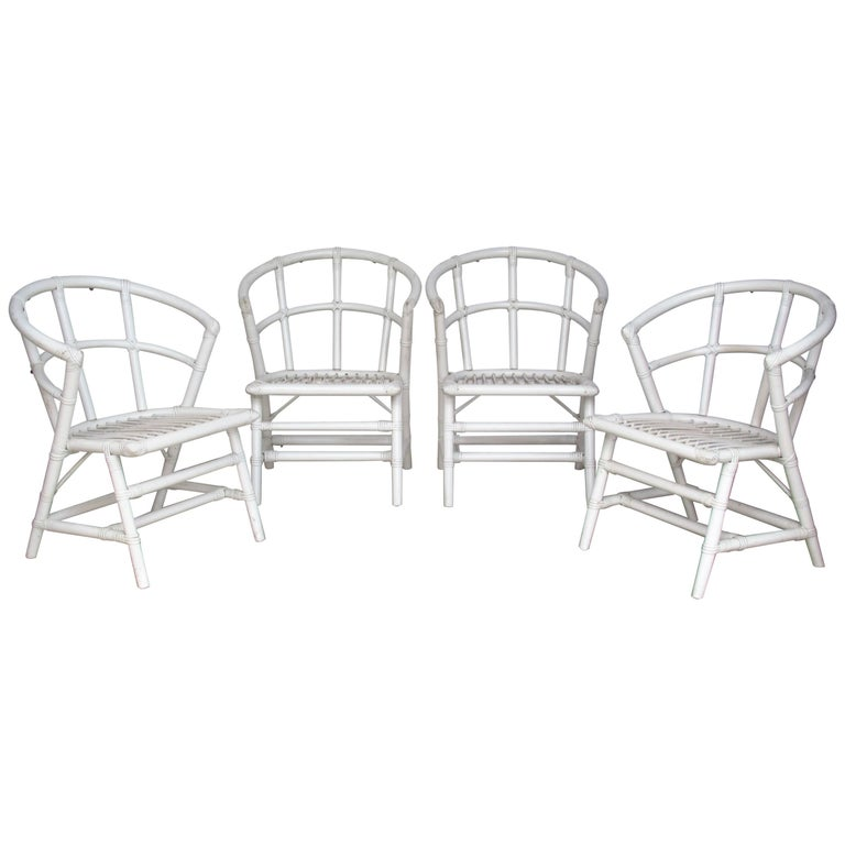Modernist Rattan Chairs by Willow and Reed attributed to Tommi Parzinger