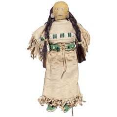 Antique Native American Doll, Sioux 'Plains Indian', 19th Century