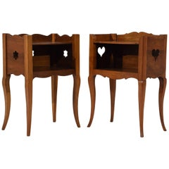 Pair of Antique French Provincial Style Night Stands
