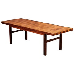 Bramin Mid-Century Patchwork Hardwood Coffee Table