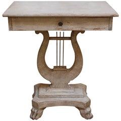 19th Century Swedish Harp Console Table