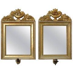 Pair of Swedish Gilded Mirrors