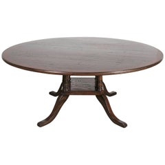 Georgian Style Six-Foot Round Birdcage Pedestal Dining Table