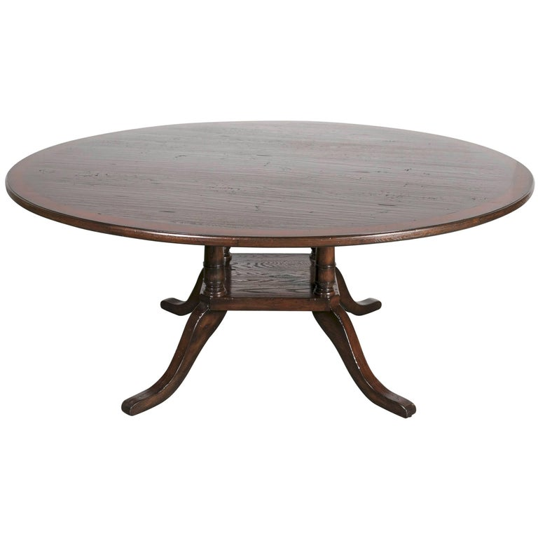 georgian style six foot round birdcage pedestal dining table for sale at 1stdibs. Black Bedroom Furniture Sets. Home Design Ideas