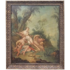 After Boucher , Diana and Nymphs by Pond , Rococo Style