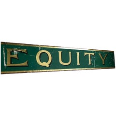 Equity Victorian Glass Shop Sign