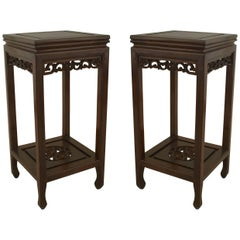 Pair of Chinese Rosewood Pedestals